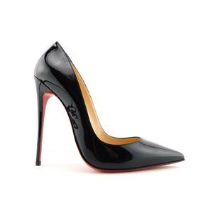 CHRISTIAN LOUBOUTIN Black Patent Classic Pumps 38